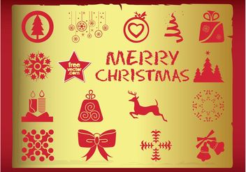 Christmas Vector Icons - Free vector #142135