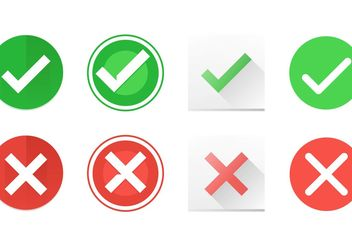 Correct and Incorrect Symbol Vector Icons - Kostenloses vector #142175