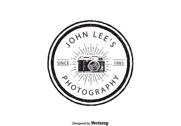 Vintage Photography Logo Template - vector gratuit #142445