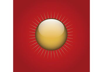 Gold Sun Button - Free vector #142475
