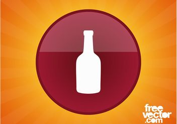 Wine Button - vector gratuit #142535