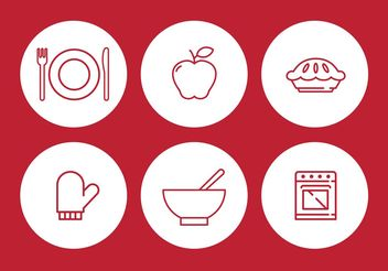 Apple Pie Vector Icon Set - vector #142555 gratis