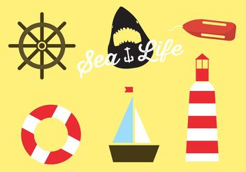 Beach icons - vector #142565 gratis