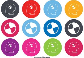 Crash Test Dummy Symbol Icons - vector #142575 gratis