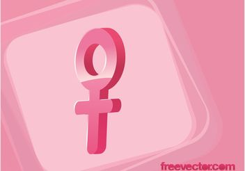 Female Gender Symbol Vector - vector #142625 gratis