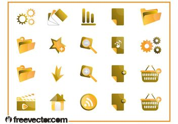 Tech Icons Set - vector #142645 gratis