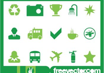 Green Icons Graphics - Free vector #142665