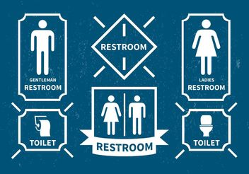 Rest Room Vector Icons - бесплатный vector #142725