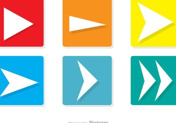 Square Next Icons Vector Pack - Free vector #142745