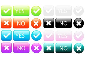 Big Colorful Button Vector Set - Free vector #142775
