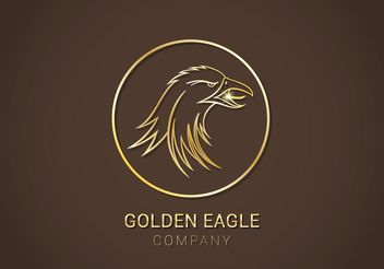Free Golden Eagle Vector Logo - Free vector #142785