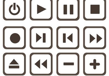 Set Of Media Player Button Vector - Free vector #142845