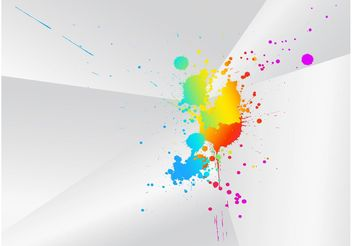 Artistic Color Splash - Free vector #142875