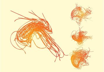 Colorful Scribbles - Kostenloses vector #142885