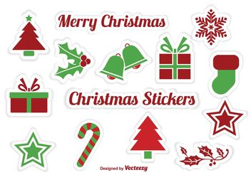 Christmas Sticker Vectors s - vector gratuit #142925