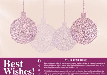 Card Best Wishes Vector with Ornaments - vector #142935 gratis