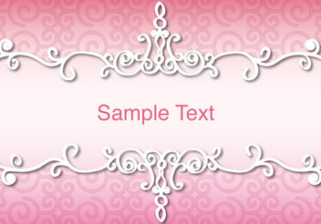 Background With Divider Ornamental Frame - vector gratuit #142945