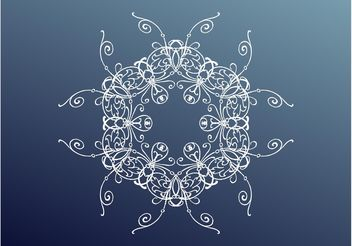 Floral Ornament Layout - vector gratuit #142985