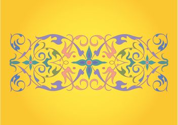 Retro Floral Ornament - Free vector #142995
