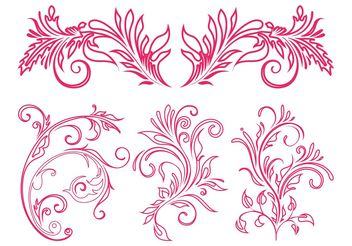 Floral Ornaments Graphics - Free vector #143015