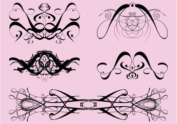 Vintage Swirling Ornaments - Free vector #143045