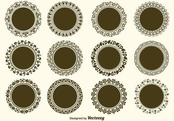 Round Decorative Vector Frame Vectors - бесплатный vector #143055