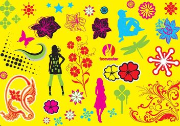 Pop Art Graphics - Free vector #143105