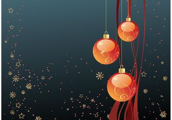 Merry Christmas Wallpaper - Free vector #143175
