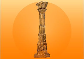 Indian Column - vector #143185 gratis