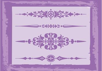 Vintage Decorations Vectors - Free vector #143305