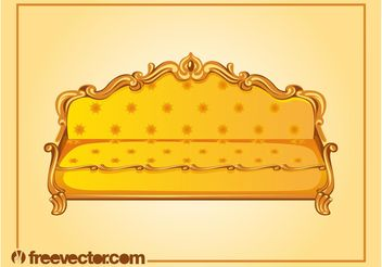 Antique Sofa Vector - vector gratuit #143315