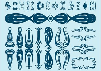 Decorative Floral Scrolls - Kostenloses vector #143325