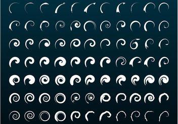 Swirls And Spirals Set - Free vector #143425