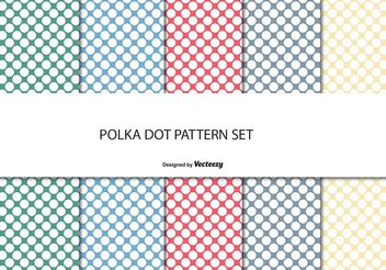 Polka Dot Pattern Set - Kostenloses vector #143465