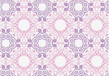 Romantic Floral Pattern - vector gratuit #143505