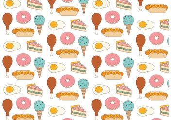 Food Background Pattern - бесплатный vector #143525