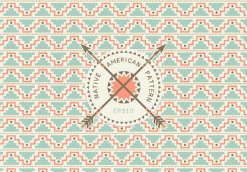 Free Native American Seamless Pattern Vector - Free vector #143545