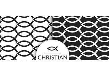 Free Christian Fish Symbol Seamless Pattern - Free vector #143605
