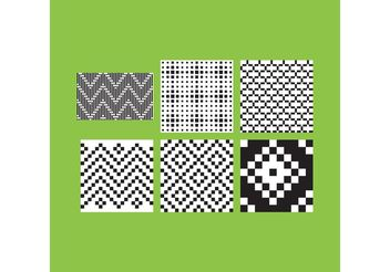 Simple B&W Patterns 3 - Free vector #143625