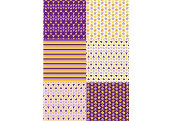 Geometric Colorful Patterns - Free vector #143645