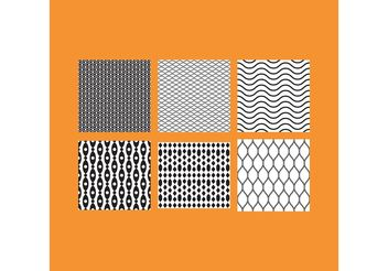 Simple B&W Patterns 5 - Free vector #143665