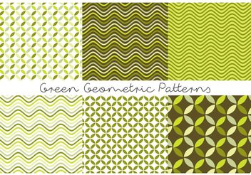 Green Geometric Patterns - vector gratuit #143695