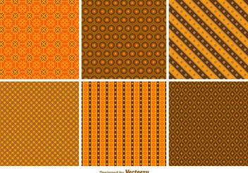 Halloween Autumn Patterns - Free vector #143705