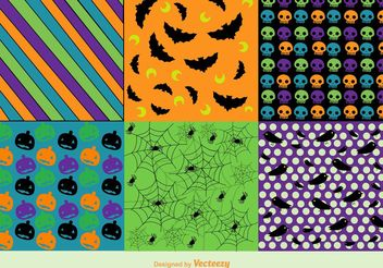 Free Vector Halloween Background Patterns - Free vector #143715