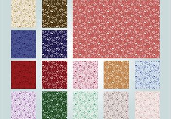 Seamless Retro Patterns - Free vector #143735