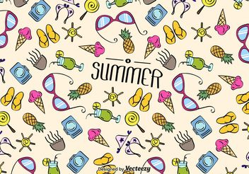 Summer Beach Texture Vector - бесплатный vector #143825