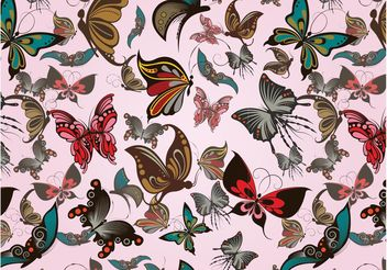 Butterflies Pattern - Free vector #143975