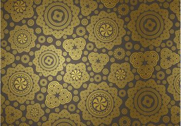 Golden Vector Pattern - Free vector #144065