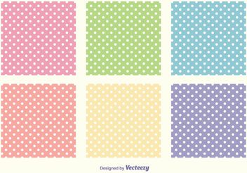 Polka Dot Pattern Set - Free vector #144085
