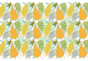 Leaf Pattern Background - Free vector #144105